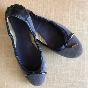 Tod's blue suede ballerina flats - 7.5